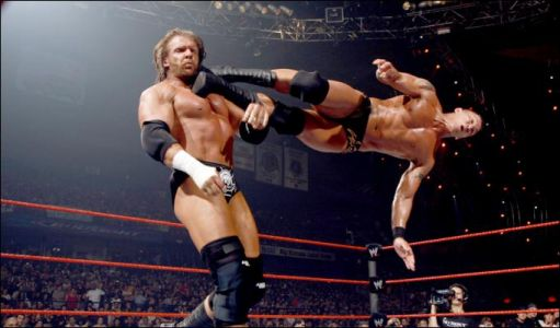 Randy Orton In Action With Triple H