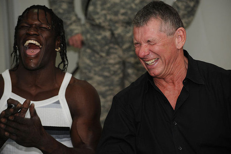 Ron Killing Vince McMahon laughing