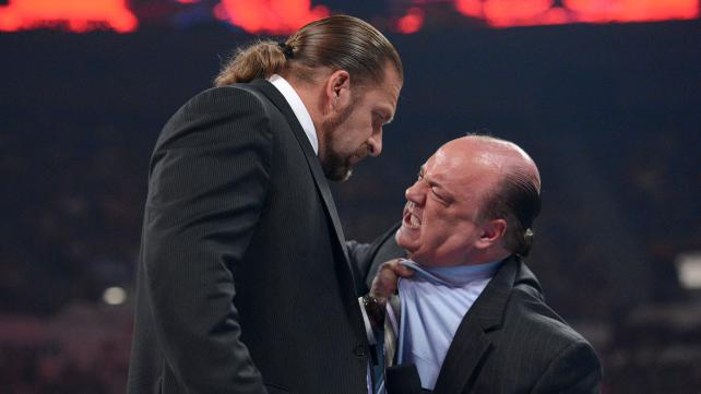 Triple H Paul Heyman
