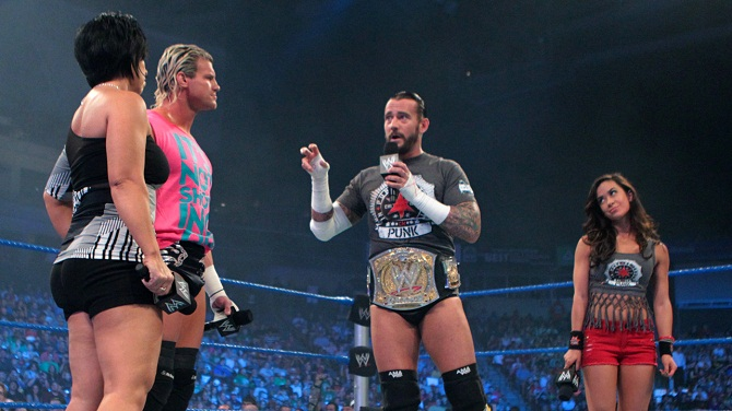 Vickie Guerrero Dolph Ziggler CM Punk AJ
