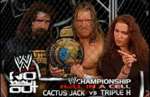 Cactus Jack vs Triple H, Hell In A Cell