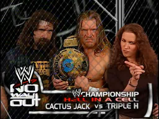 Cactus Jack vs Triple H Hell In A Cell