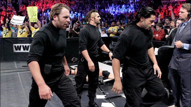 Dean Ambrose Seth Rollins Roman Reigns