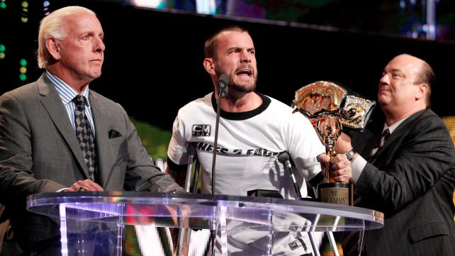 Ric Flair, CM Punk, Paul Heyman