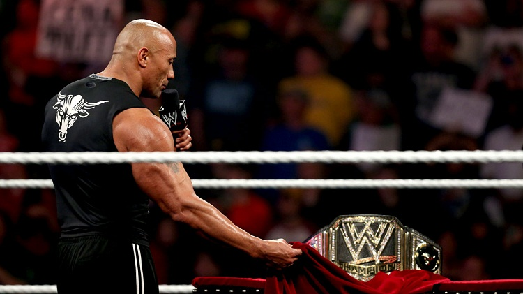 the rock nouvelle ceinture wwe champion
