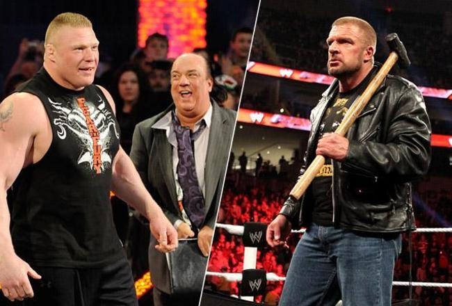 brock-lesnar-triple-h-raw