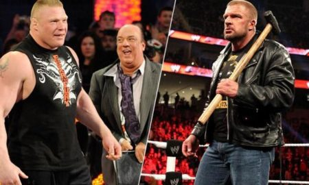brock lesnar vs triple h