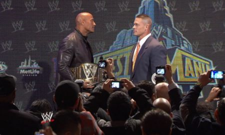 john cena the rock wm29 live conf