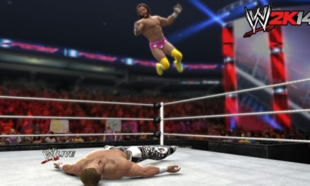 wwe2k14 firstscreens machoman elbowdrop