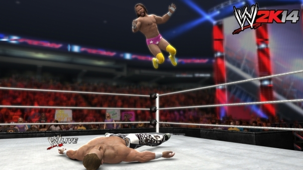 wwe2k14-firstscreens-machoman-elbowdrop