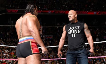 raw the rock rusev