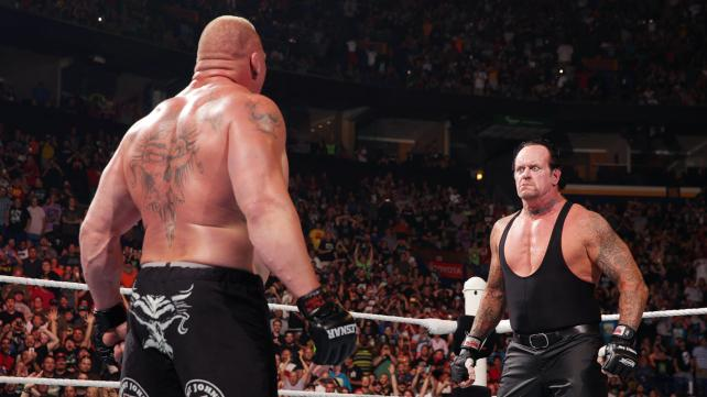 undertaker lesnar battleground