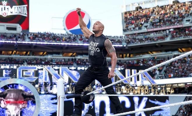 The Rock à WrestleMania 31 — © WWE