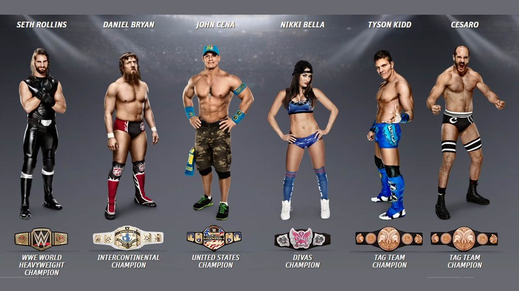 champions wrestlemania 31