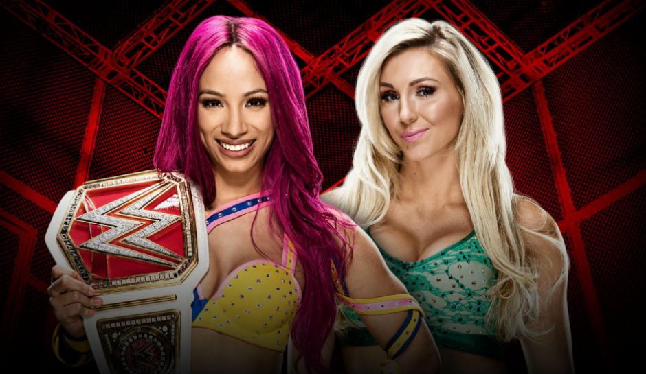 Sasha Banks vs Charlotte Hell in a Cell
