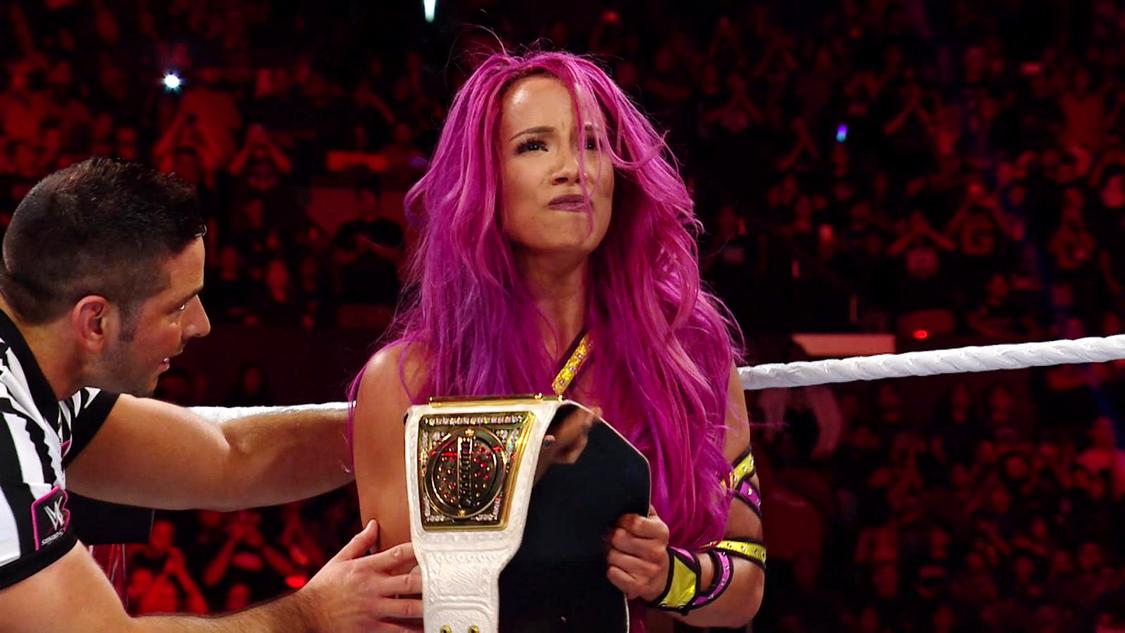 sasha banks raw champion