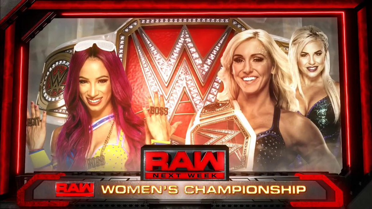 sasha banks charlotte raw