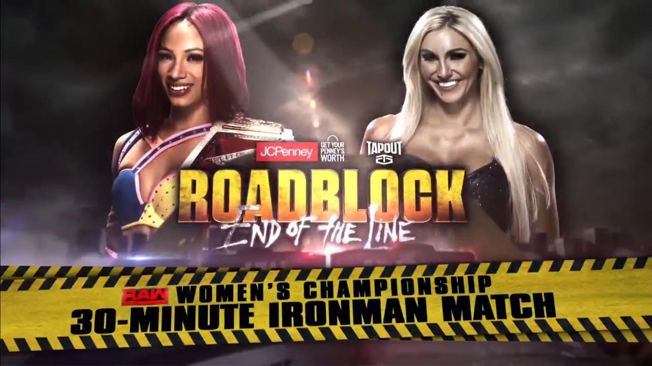 charlotte sasha banks roadblock