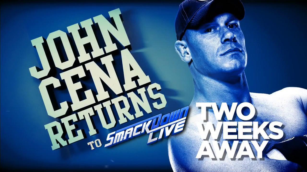 john cena retour smackdown live