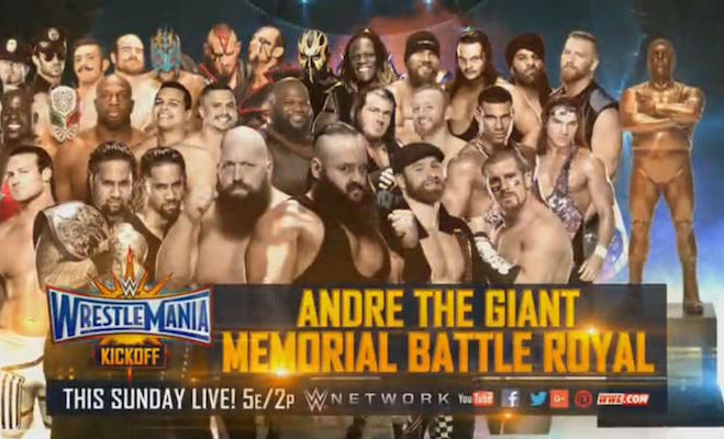 Image result for wrestlemania 33 Andre the Giant Memorial Battle Royal