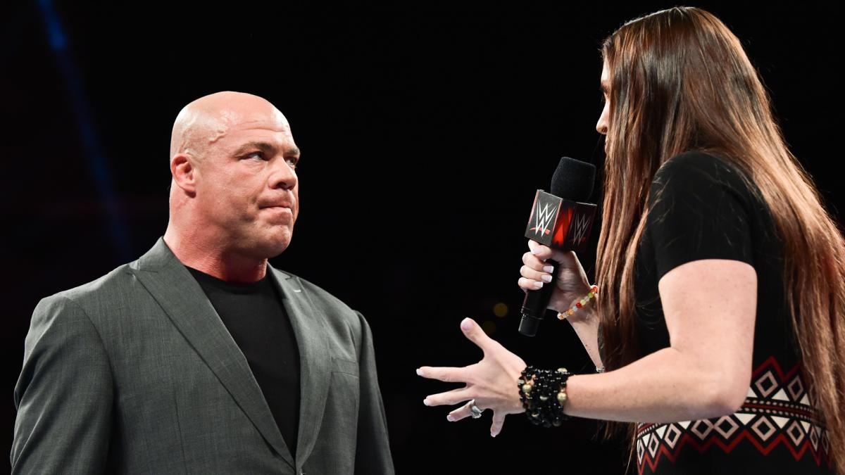 stephanie mcmhon kurt angle raw