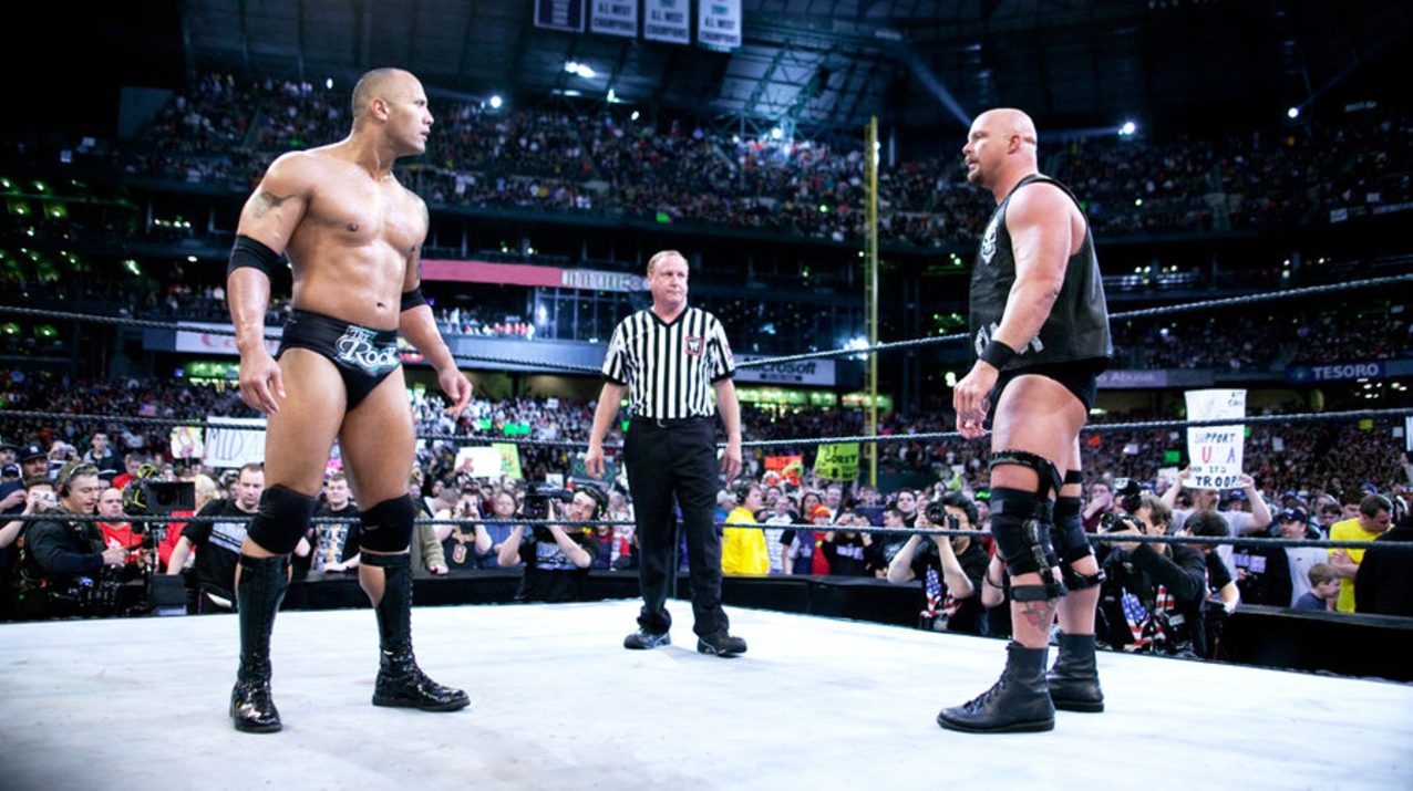 the rock austin wrestlemania 17