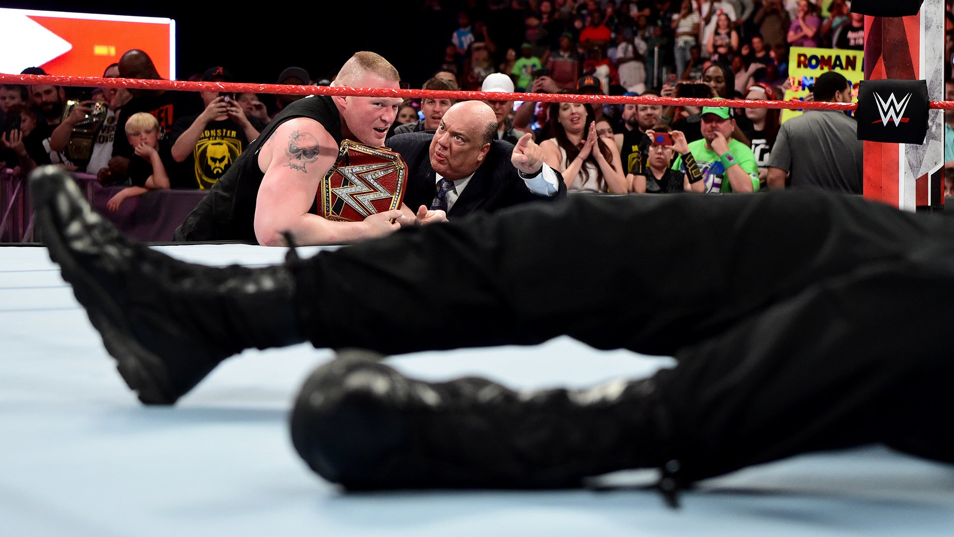 lesnar reigns raw 1