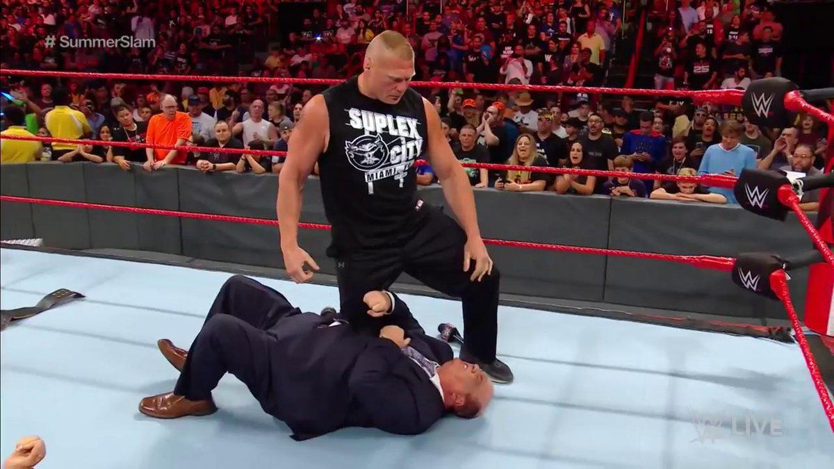 brock lesnar raw 1