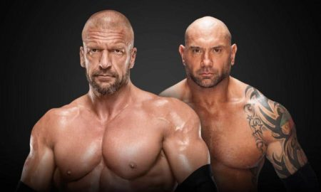 triple h batista wrestlemania 35