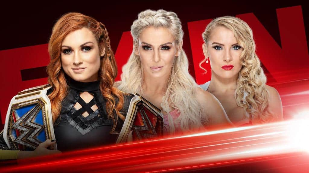 Becky Lynch Charlotte Flair Lacey Evans RAW