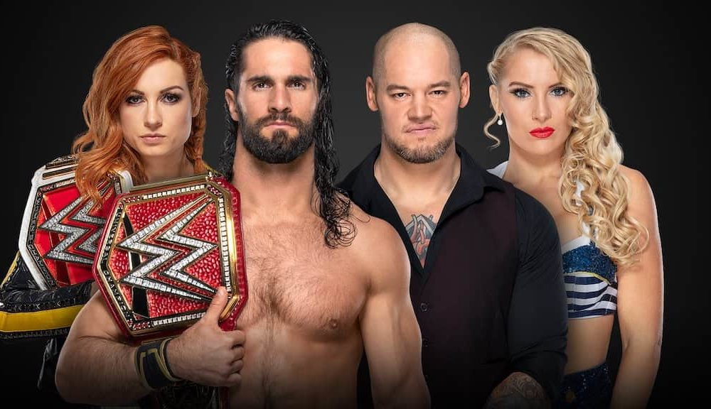 wwe extreme rules 2019   seth rollins et becky lynch face