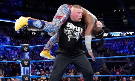 brock lesnar kofi kingston smackdown