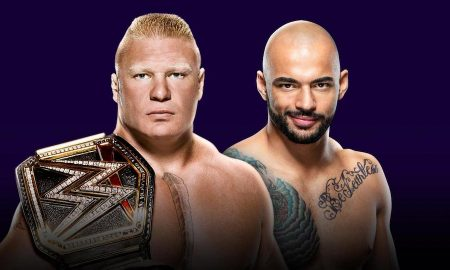 lesnar ricochet super showdown