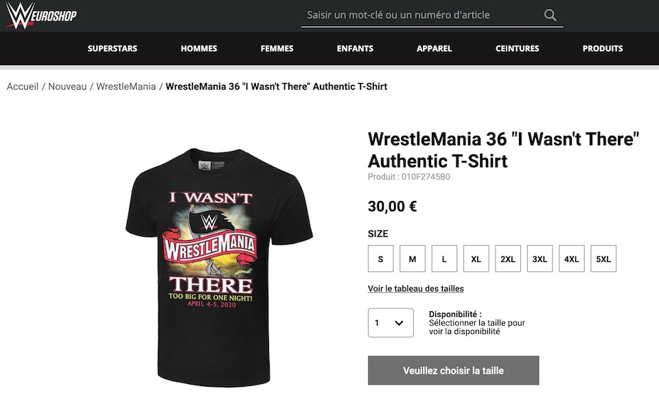 wrestlemania 36 t shirt