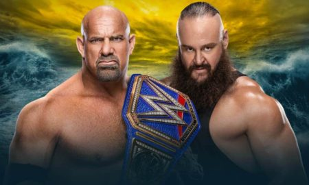 goldberg strowman wrestlemania