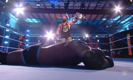 strowman goldberg wrestlemania