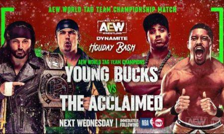 aew holiday bash young bucks acclaimed