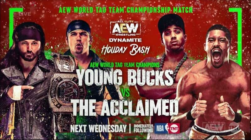aew holiday bash young bucks acclaimed