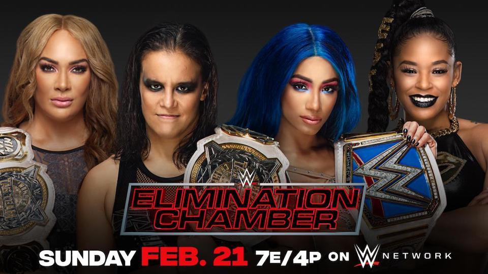 wwe elimination chamber 2021 titres equipe feminins