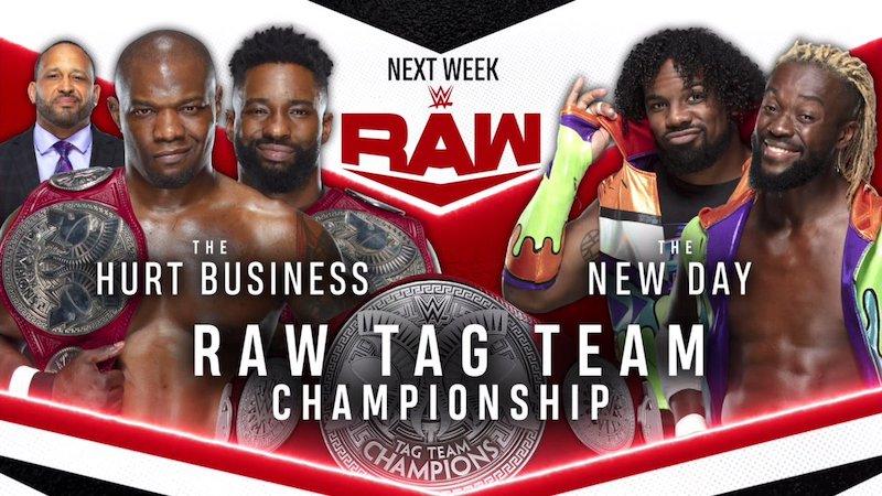 wwe raw matchs championnat equipe