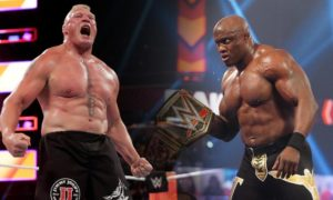 bobby lashley brock lesnar wwe match