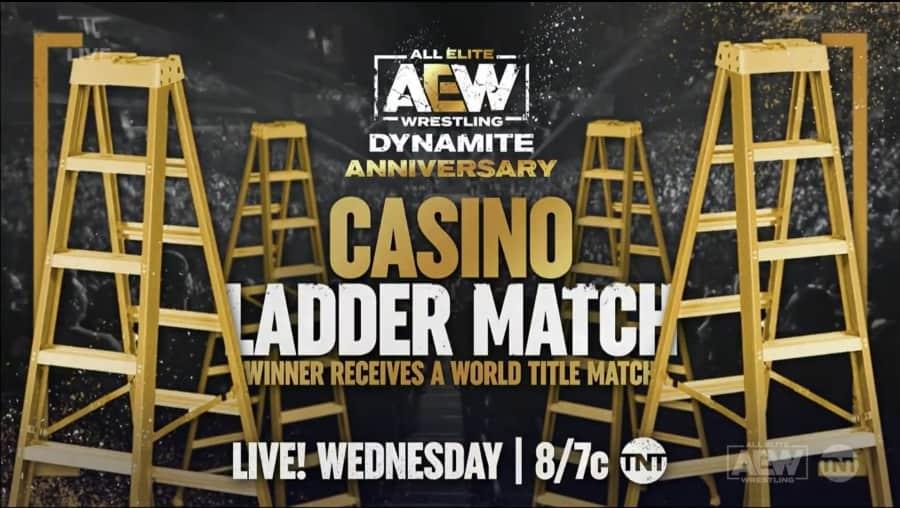 aew dynamite 6 octobre 2021 casino ladder match