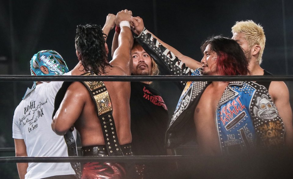 resultats njpw wrestle grand slam metlife