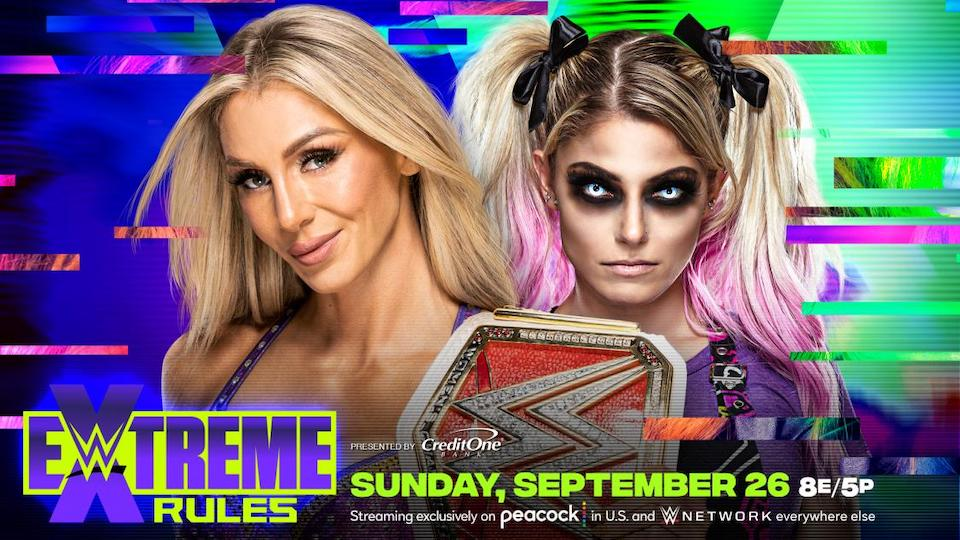 wwe extreme rules 2021 charlotte flair alexa bliss titre raw
