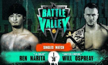njpw battle valley matchs carte