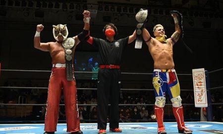 njpw road to power struggle 2021 robbie eagles tiger mask champion junior equipe